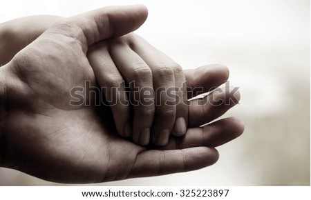 Human Hands. - stock photo