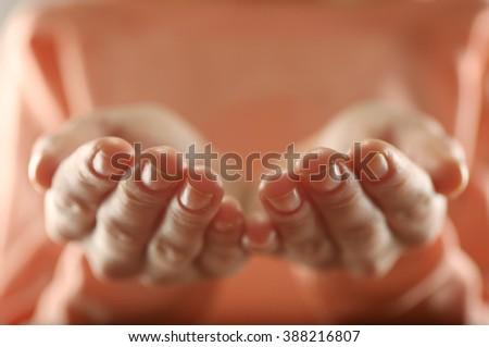 Human hands closeup - stock photo