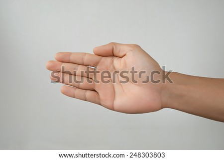 human hands five finger isolate - stock photo