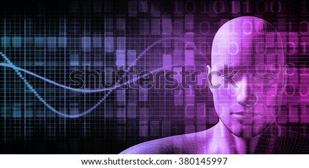 Human Implant Concept Technology as a Illustration - stock photo