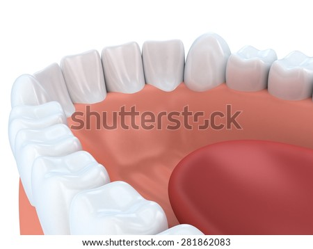 Human jaw (done in 3d graphics)  - stock photo