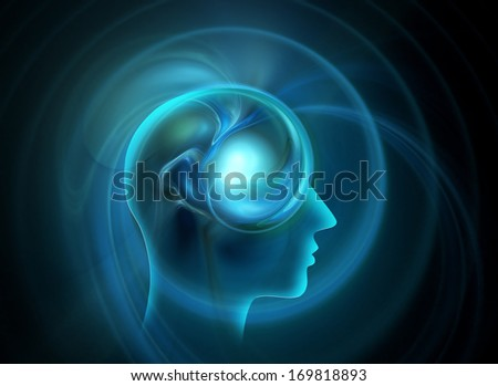 human mind - a concept design - stock photo