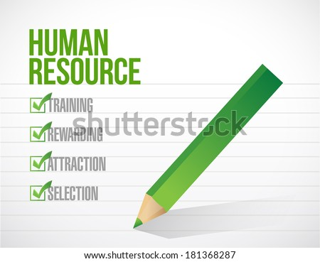 human resource check mark illustration design over a white background - stock photo