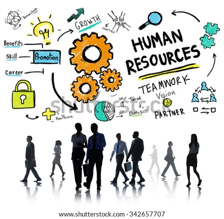 Human Resources Employment Teamwork Business People Commuter Concept - stock photo