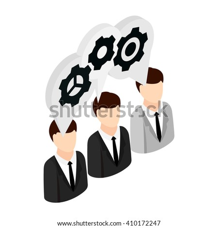 Human resources icon, isometric 3d style - stock photo