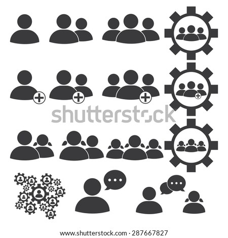 Human Resources Icons - stock photo