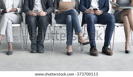 Human Resources Interview Recruitment Job Concept - stock photo
