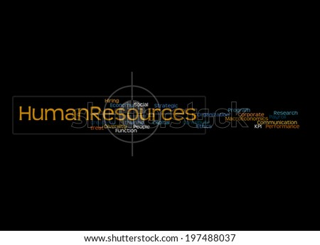 Human Resources Word Cloud Arrangement - stock photo