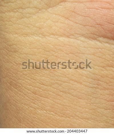 Human skin macro texture - stock photo