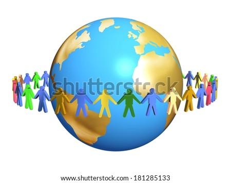 humanity multiracial globalization - stock photo