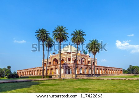Humayun's Tomb. Delhi, India - stock photo