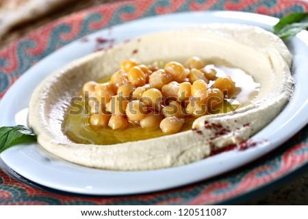 hummus - stock photo