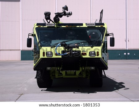 Humvee Fire Truck on Plant - stock photo