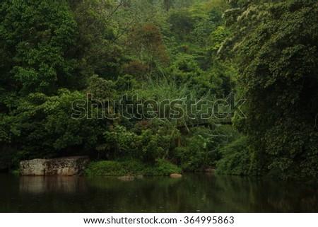 Hunas Falls - stock photo