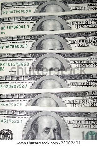 hundred dollar bill background - stock photo