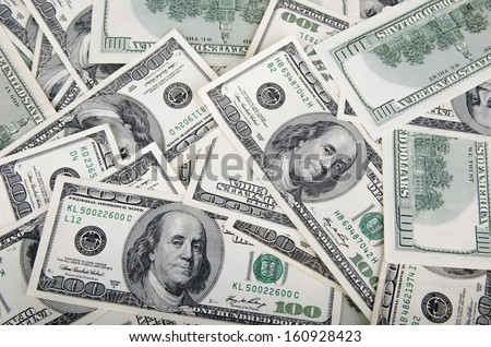Hundred Dollar Bills for background  - stock photo