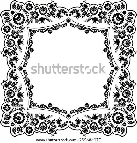 Hungarian floral folk pattern -raster - stock photo