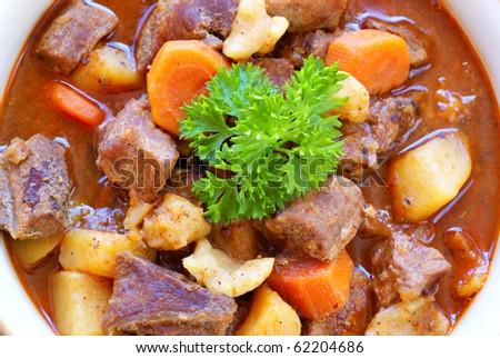 Hungarian goulash - stock photo