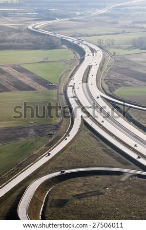 Hungarian highway - stock photo