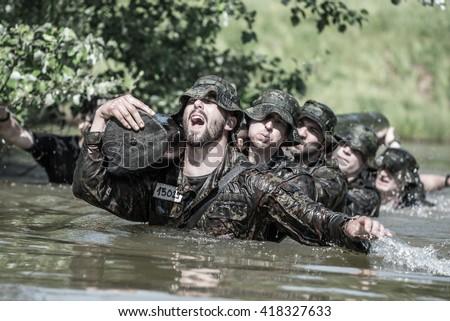 Hungary, Orfu - May 3-8: Elite Challenge is a program designed both for civilians and professionals who wish to try out what it feels like to get through Special Forces selection. - stock photo