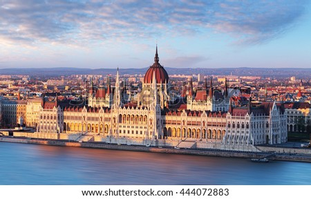 Hungary parliament, Budapest symbol - stock photo
