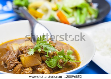Hunglei curry, Chiang Mai food, Thailand - stock photo