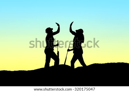 Hunters silhouette - stock Image - stock photo
