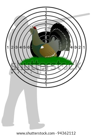 Hunting ammo and targets. The illustration on a white background. - stock photo
