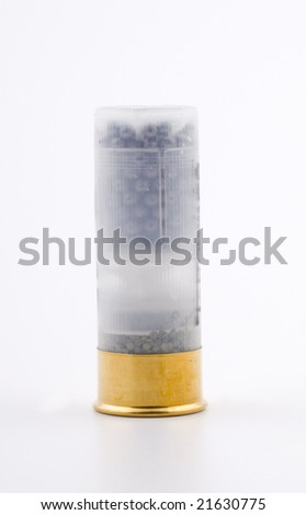 Hunting ammunition isolated on white - stock photo