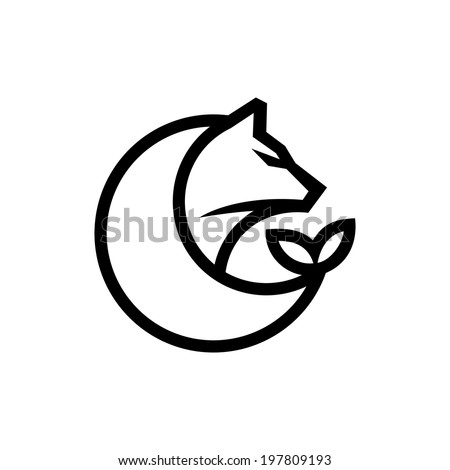 Hunting and fishing abstract sign Branding Identity Corporate logo design template Isolated on a white background - stock photo