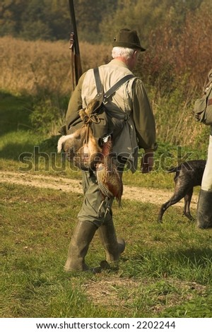 hunting day - stock photo