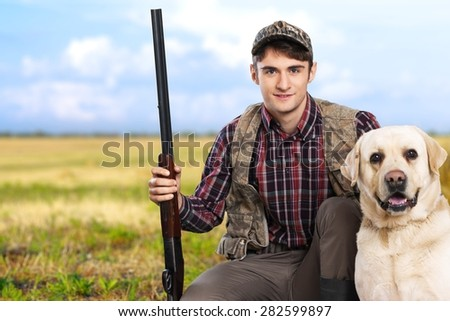 Hunting, Hunting Dog, Dog. - stock photo