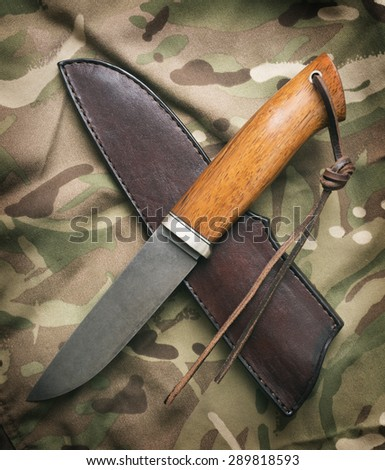 hunting knife - stock photo