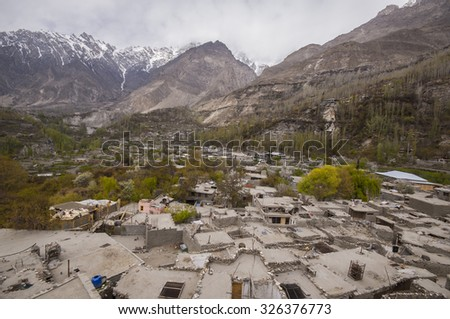 Hunza valley, Pakistan - stock photo