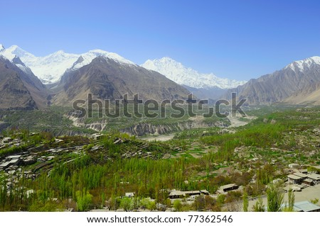 Hunza Valley Pakistan - stock photo