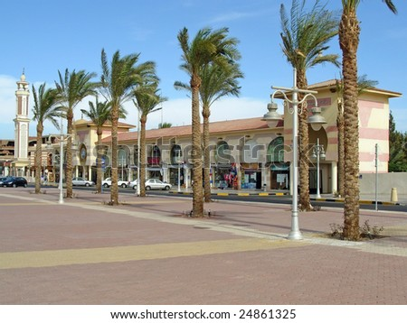 Hurghada, Egypt, boulevard. To see similar images, please VISIT MY GALLERY. - stock photo