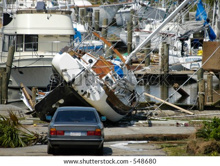 Hurricane Katrina 1 - stock photo