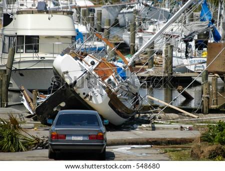 Hurricane Katrina 1 - stock photo