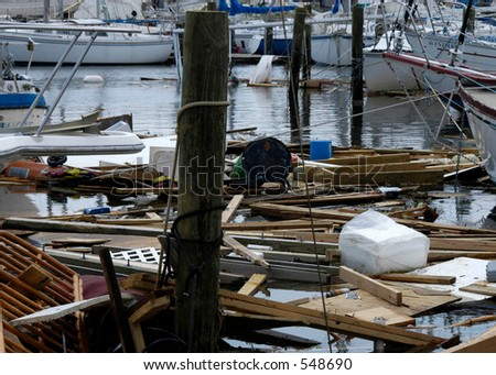Hurricane Katrina 30 - stock photo
