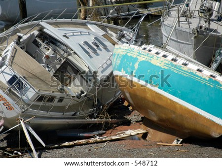 Hurricane Katrina 9 - stock photo