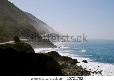 Hwy 1, California - stock photo