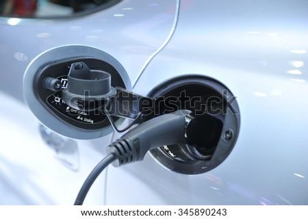 hybrid engine - stock photo