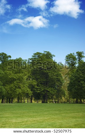 Hyde Park in London - Summer time in the city - stock photo