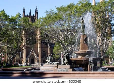 Hyde park,Sydney,Australia - stock photo