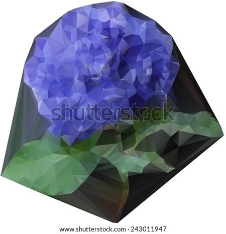 hydrangea pattern - stock photo