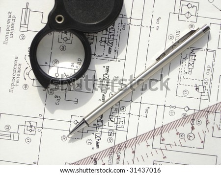 hydraulic circuit - stock photo
