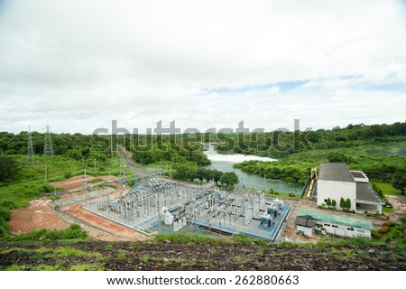 Hydro electric power plant - stock photo