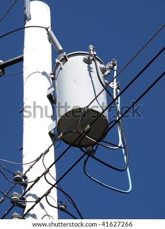 Hydro pole - stock photo