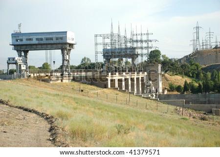 Hydro station - stock photo