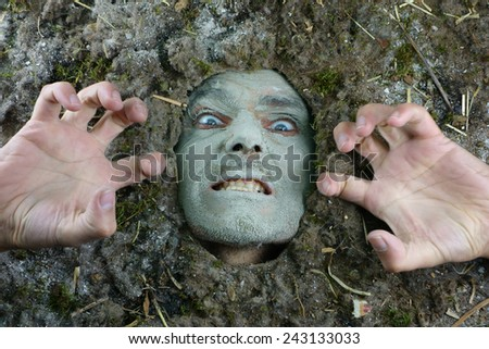 Hygiene bacteria-acarus concept, dusty angry face expressions  - stock photo